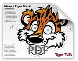 Click to download the Tiger Tots Mask